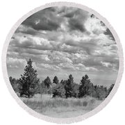 Clouds Roll In Round Beach Towel