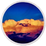 Clouds Vi Round Beach Towel