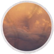 Round Beach Towel featuring the photograph Cloudscape by Dustin LeFevre