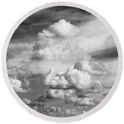 cloudscape No.19 Round Beach Towel