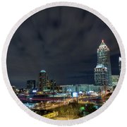 Cloudy City Round Beach Towel