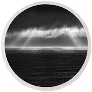 Cloudy Day At The Sae Round Beach Towel