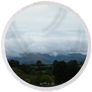 Cloudy View Round Beach Towel