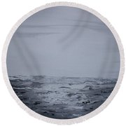 Cloudy Waves 5 Round Beach Towel