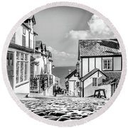 Clovelly Cobbles Round Beach Towel