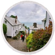 Clovelly High Street Round Beach Towel
