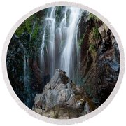 Clovelly Waterfall Round Beach Towel