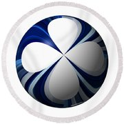 Clover Planet Round Beach Towel