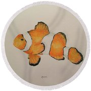 Clown Fish Round Beach Towel