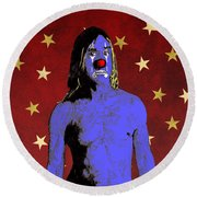 Clown Iggy Pop Round Beach Towel