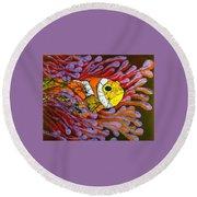 Clownfish I  Round Beach Towel