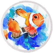 Clownfish Round Beach Towel by Suren Nersisyan