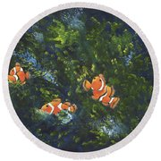 Clowning Around Round Beach Towel