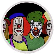 Clowns Round Beach Towel