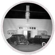 Club 526  Henry Franci, Salinas 1941 Round Beach Towel