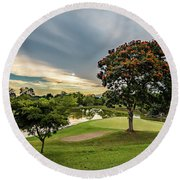 Club Campestre Round Beach Towel