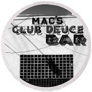 Club Deuce Round Beach Towel