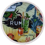 Club Habana Round Beach Towel