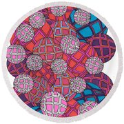 Cluster Of Spheres Round Beach Towel