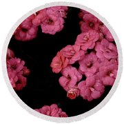 Clusters Of Pink Round Beach Towel