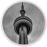 Cn Tower Toronto Round Beach Towel