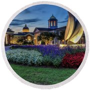 C N U Campus From Avenue Of The Arts Round Beach Towel