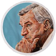 Coach Dean Smith Round Beach Towel