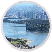 Coal Harbour Round Beach Towel