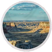 Coal Mine Canyon Round Beach Towel by Tom Kelly