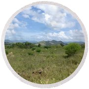 Coamo Mountains Round Beach Towel