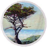 Coast Cypress Round Beach Towel