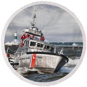 Coast Guard Round Beach Towel by Wade Aiken