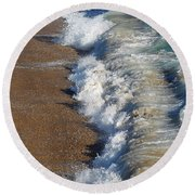 Coast Line Round Beach Towel