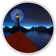 Coast Round Beach Towel