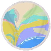 Coast Of Azure Round Beach Towel
