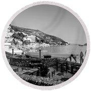 Coast Of Dubrovnik Round Beach Towel