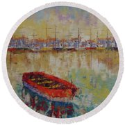 Coast Of Marseille Round Beach Towel