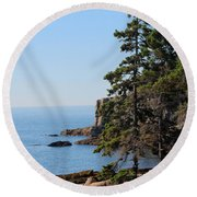 Round Beach Towel featuring the photograph Coastal Beauty by Living Color Photography Lorraine Lynch