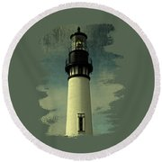 Coastal Breeze At Yaquina Head Round Beach Towel