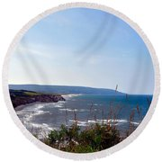Round Beach Towel featuring the photograph Coastal Cape Breton  by Elaine Manley