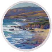 Coastal Cruising 8 / San Simeon Round Beach Towel