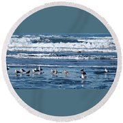 Coastal Fly-in Round Beach Towel