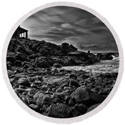 Coastal Home  Kennebunkport Maine Round Beach Towel by Bob Orsillo