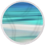 Coastal Horizon 13 Round Beach Towel