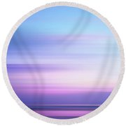 Coastal Horizon 4 Round Beach Towel