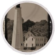 Coastal Lighthouse 2 Round Beach Towel
