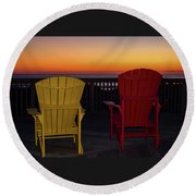 Round Beach Towel featuring the photograph Coastal Mornings by Nicole Lloyd