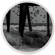 Coastal Movements Round Beach Towel