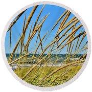 Coastal Relaxation Round Beach Towel