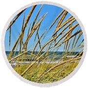 Coastal Relaxation Round Beach Towel